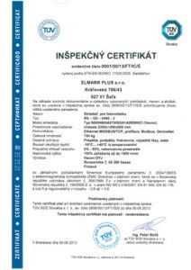 Inspection certificate